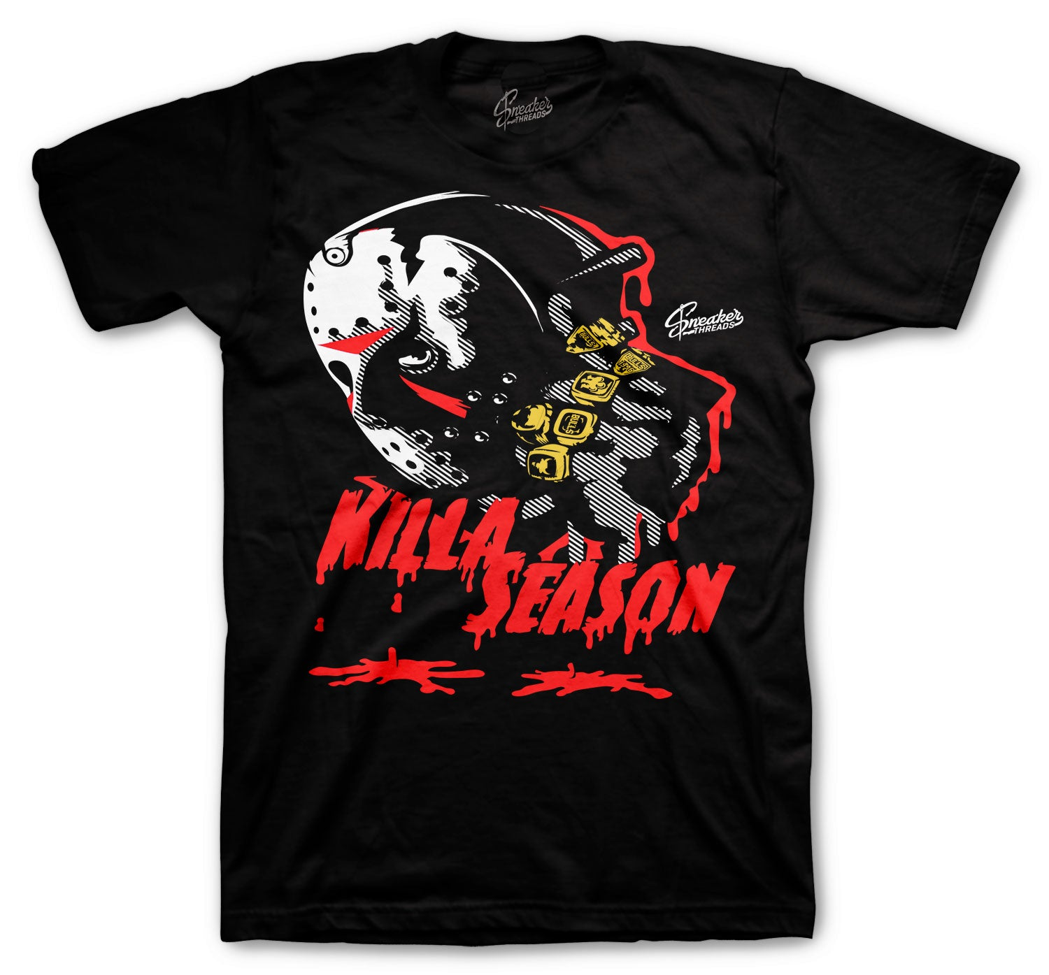 Jordan 4 Fire Red Shirt - Killa Season - Black
