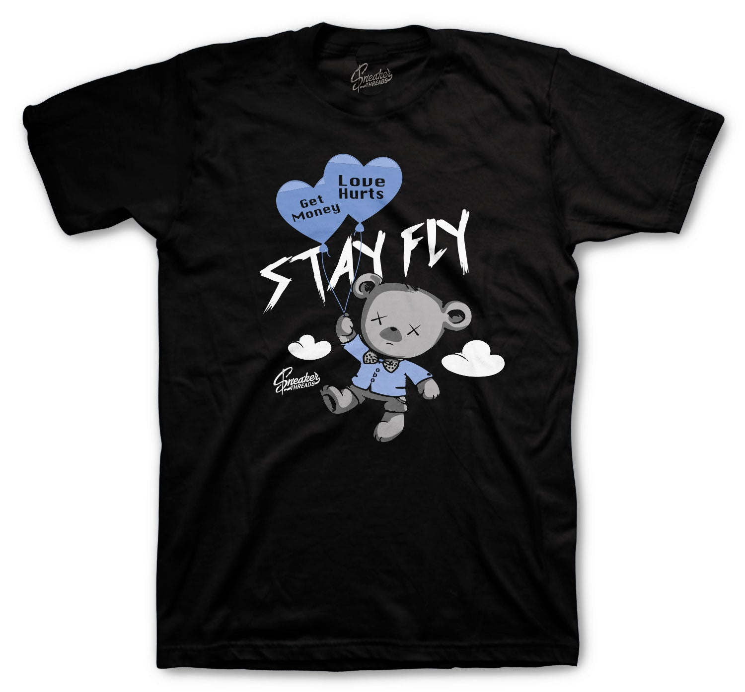 Jordan 3 UNC Shirt - Money Over Love - Black