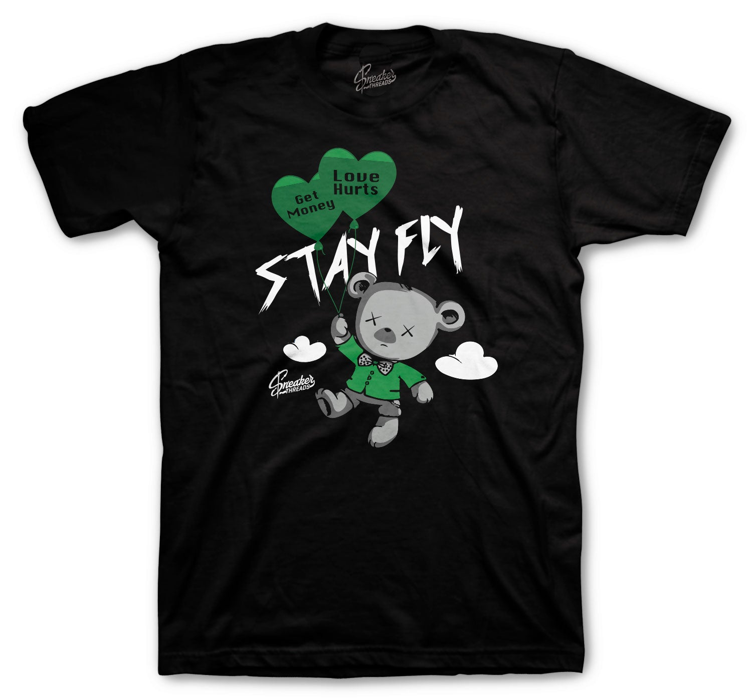 Jordan 13 Lucky Green Shirt - Money Over Love - Black