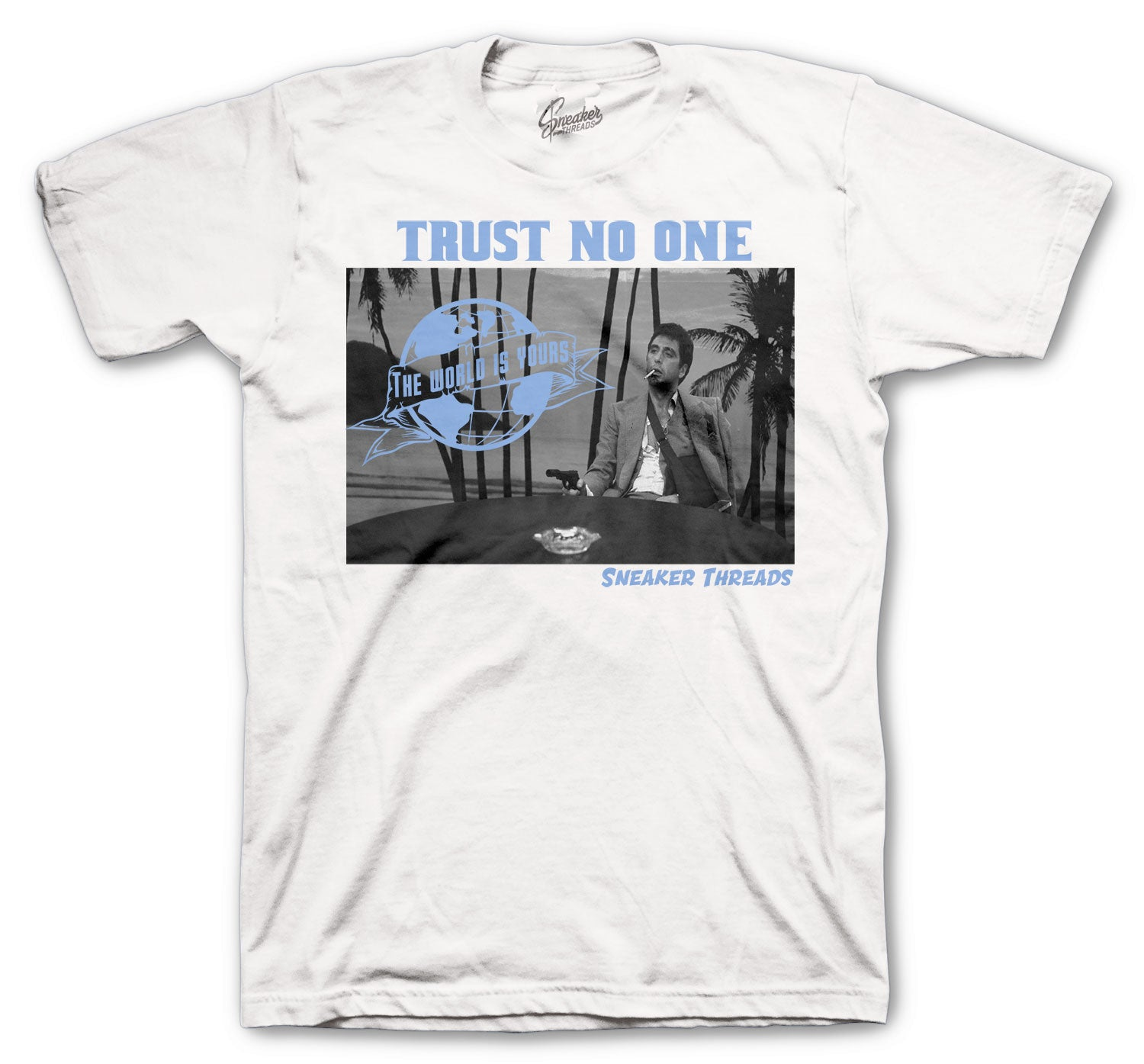 Jordan 3 UNC Shirt - Tony Knows - White