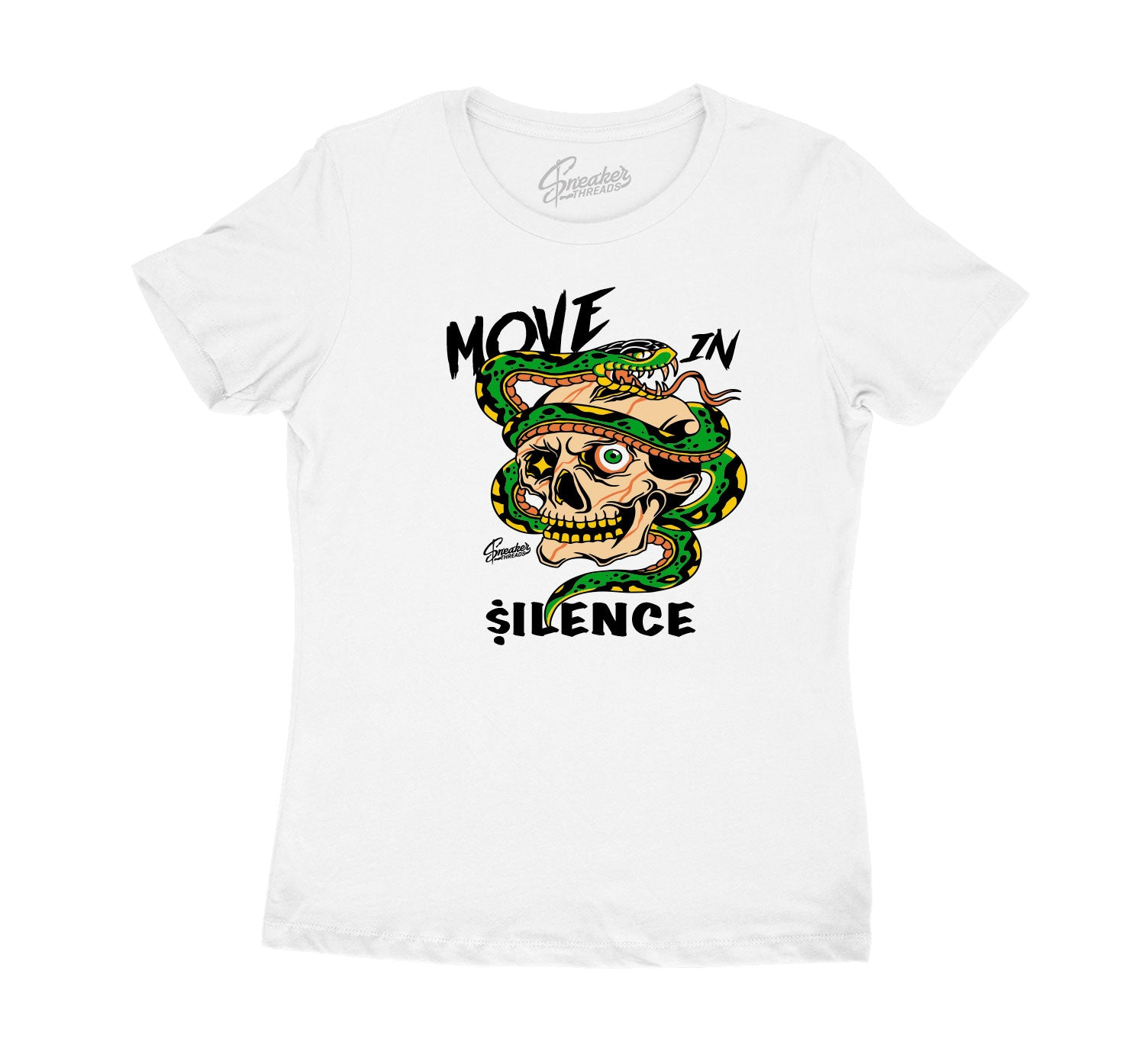 Womens Seattle 10 Shirt - Move In Silence - White