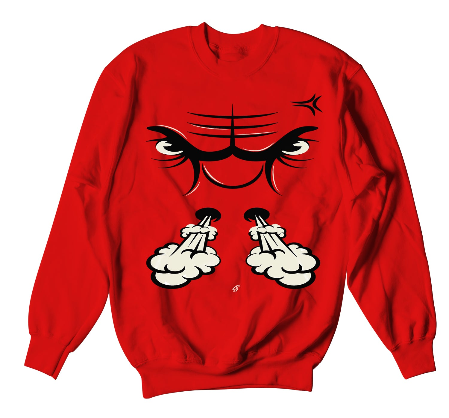 Jordan 3 Red Cement Sweater - Raging Face - Red