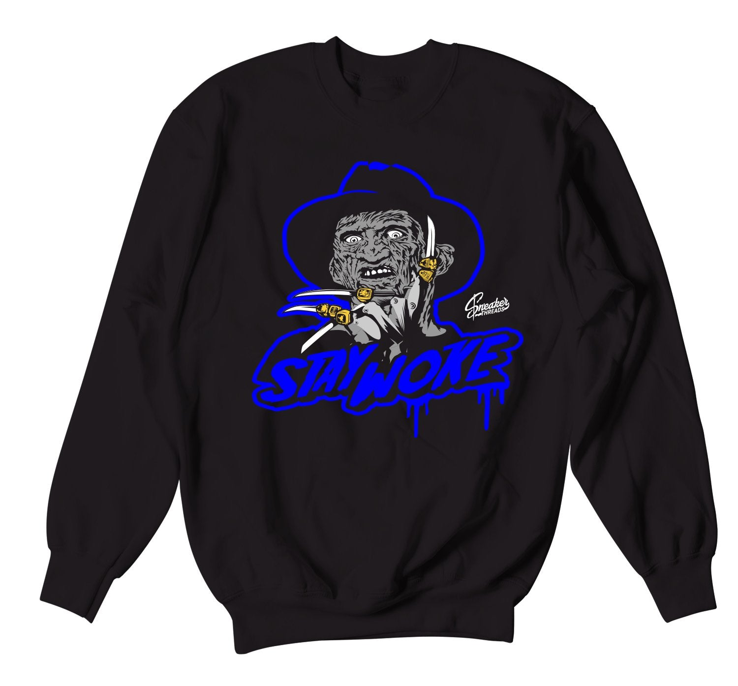 Racer Blue Jordan have matching crewnecks