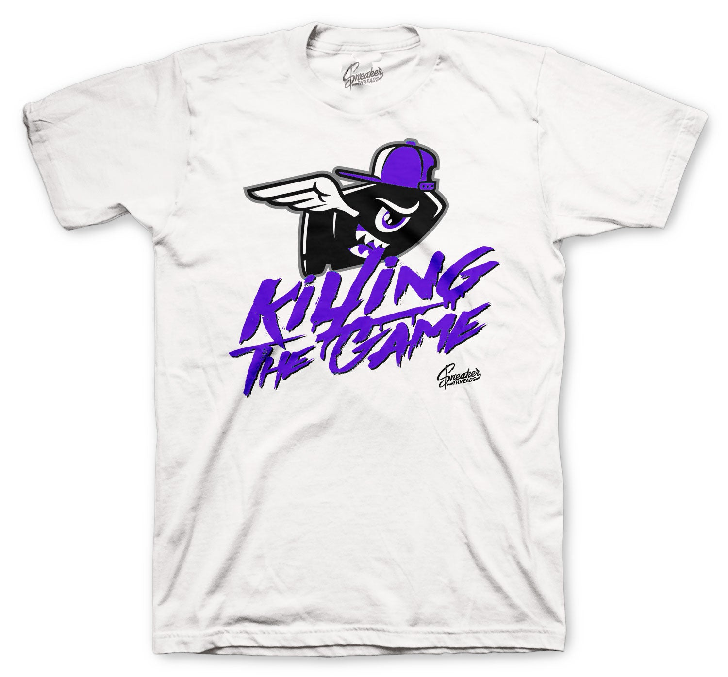 Jordan 12 Dark Concord Shirt - Killing Game - White