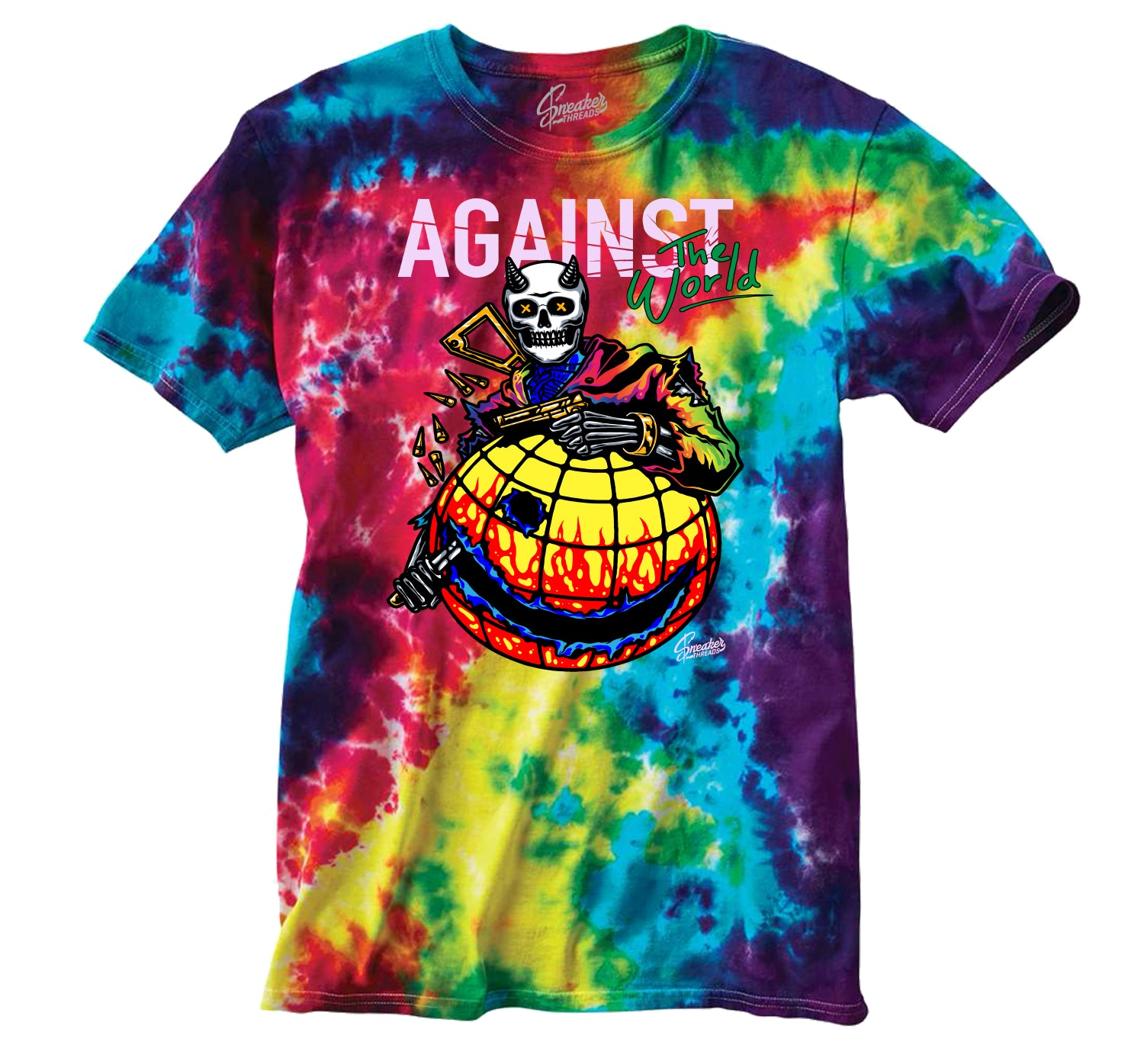 Jordan 1 Balvin Shirt -  Against The World - Tie Dye