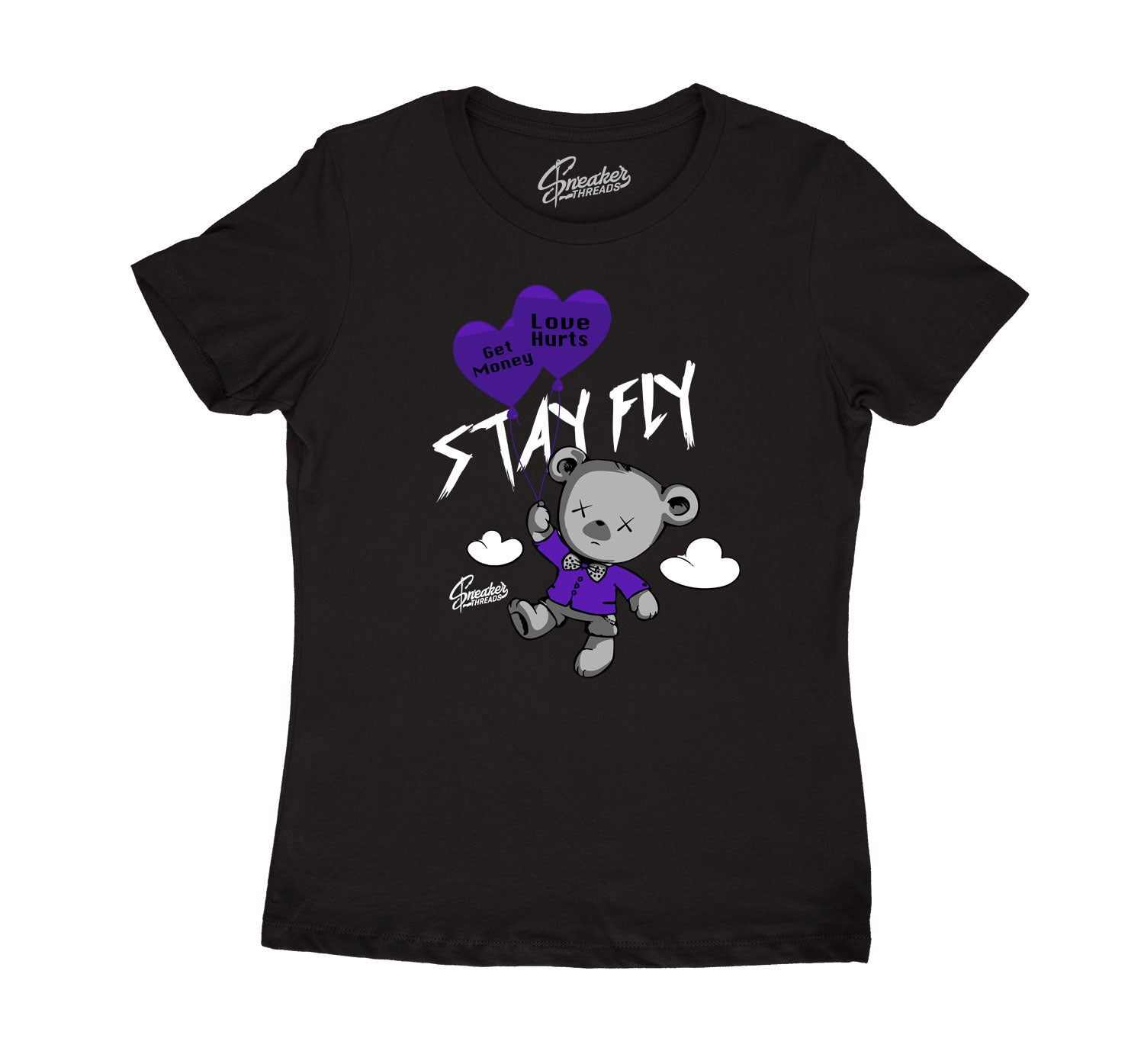 Womens Dark Concord 12 Shirt - Money Over Love - Black