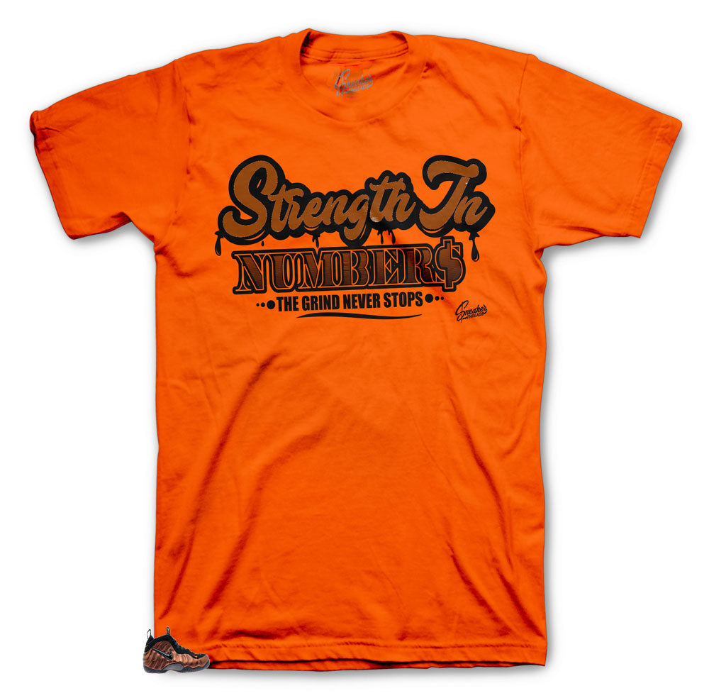 Orange Strength To Numbers Orange shirt collection