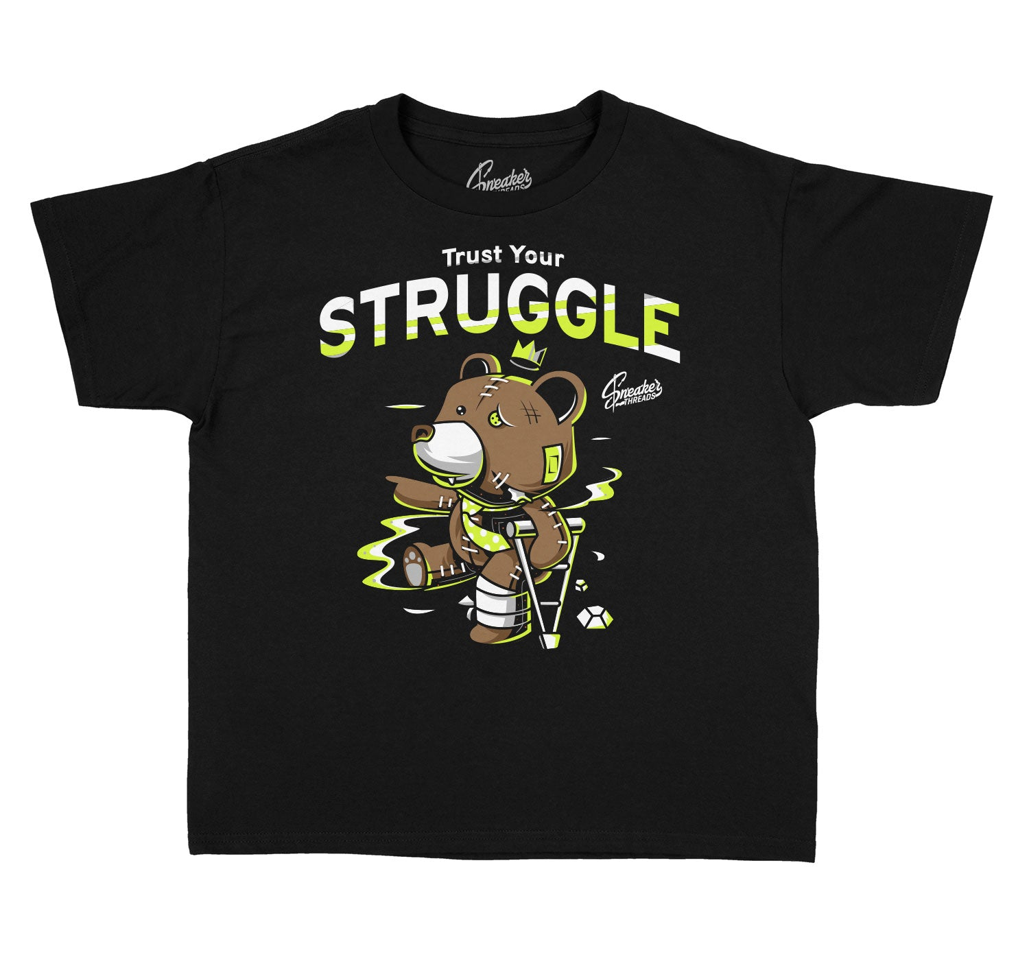 Kids Foam Volt Shirt - Trust Your Struggle - Black