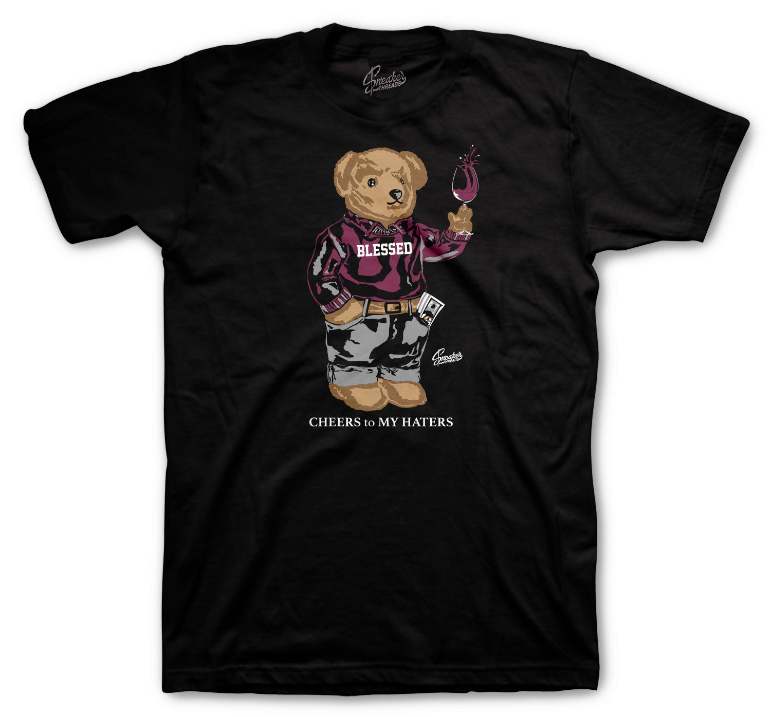 Jordan 6 Singles Day Shirt - Cheers Bear - Black