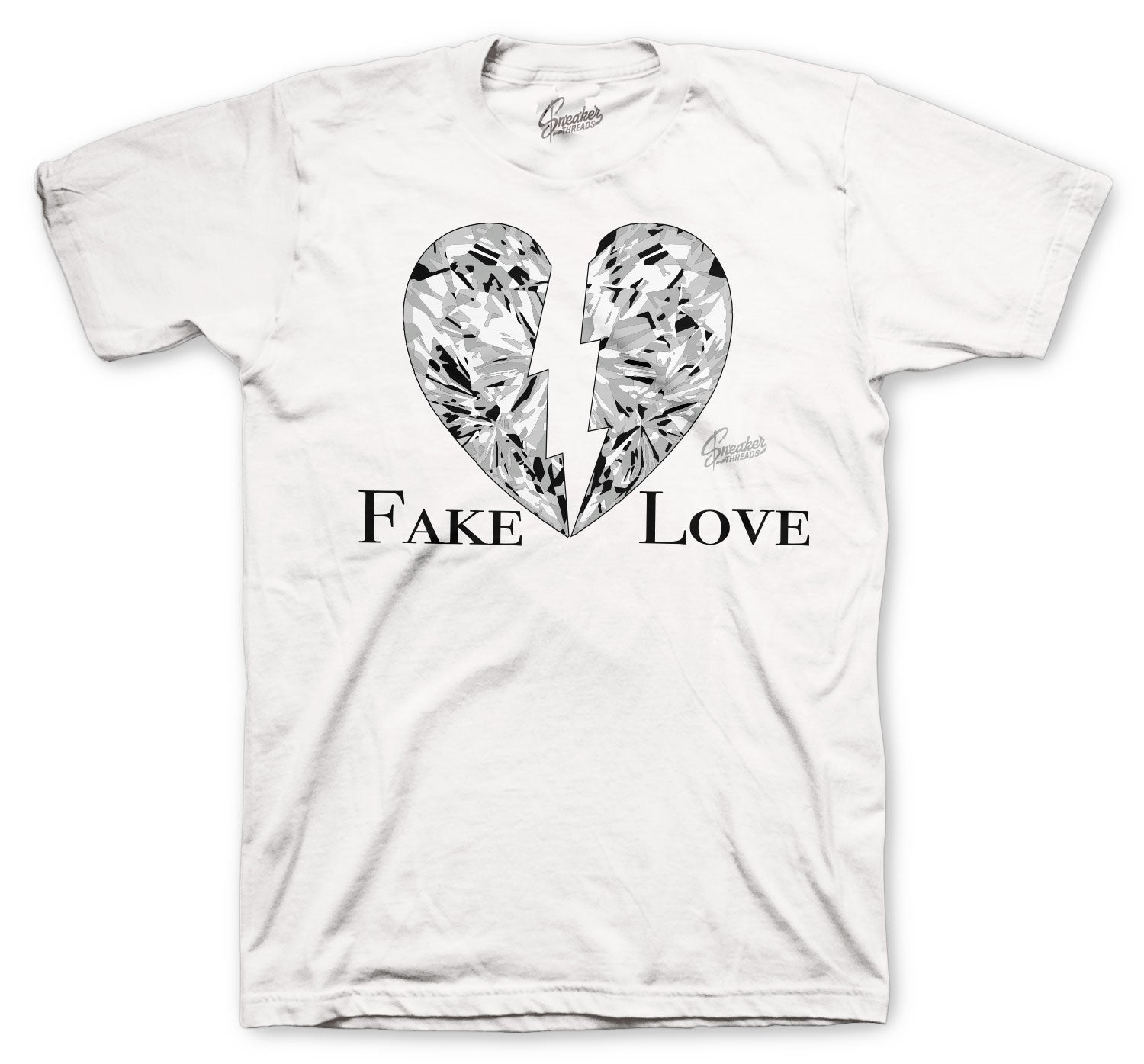 Jordan 1 Neutral Grey Shirt - Fake Love - White