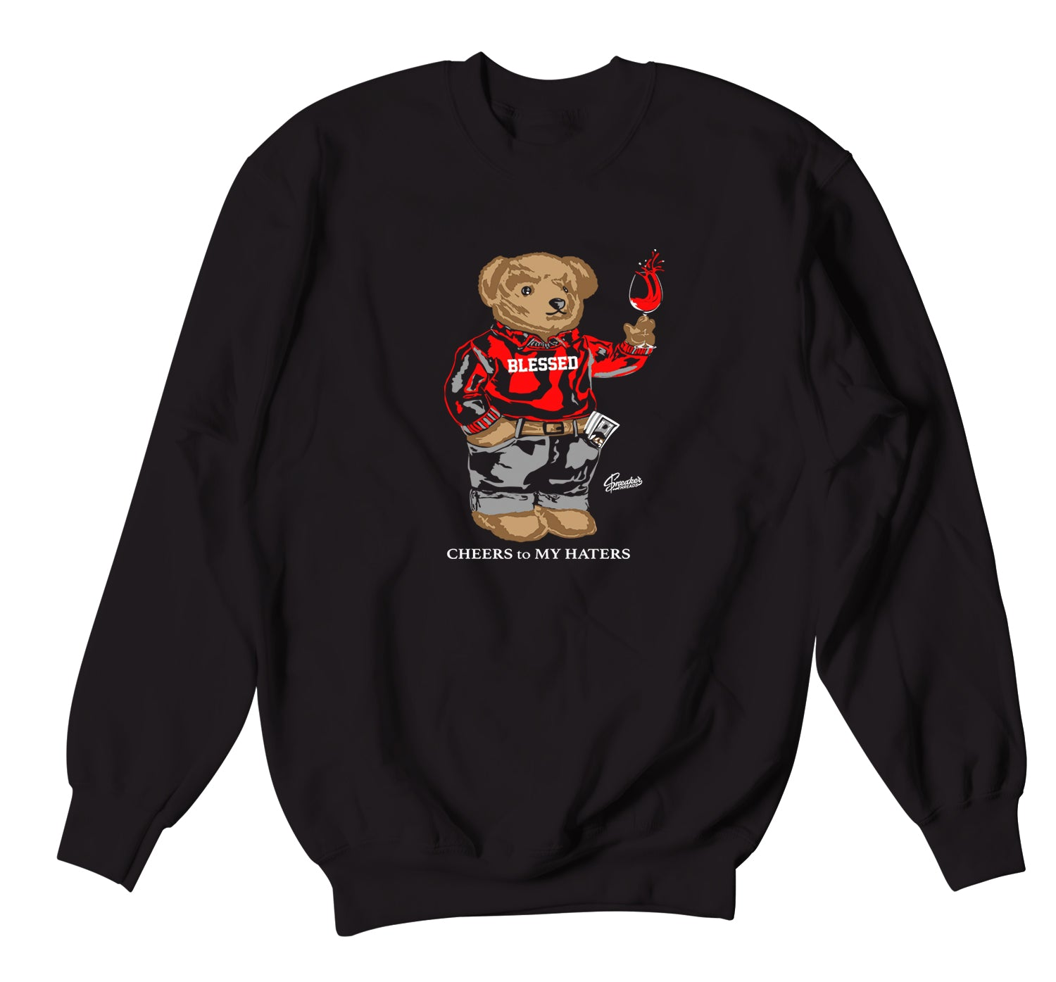 Jordan 6 Carmine Sweater - Cheers Bear - Black