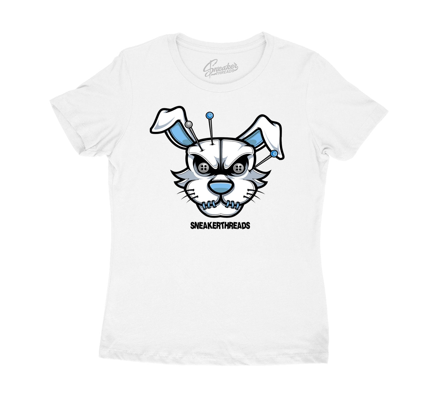 Womens University Blue 1 Shirt - ST hare - White
