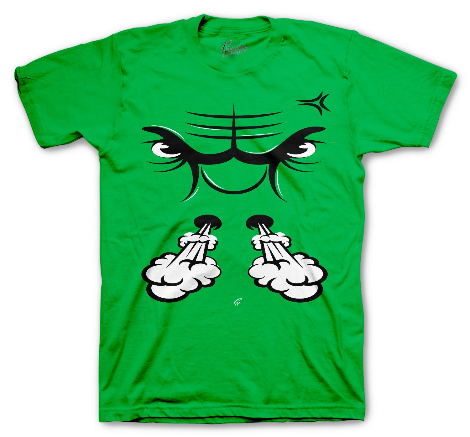 Jordan 13 Lucky Green Shirt - Raging Face - Green