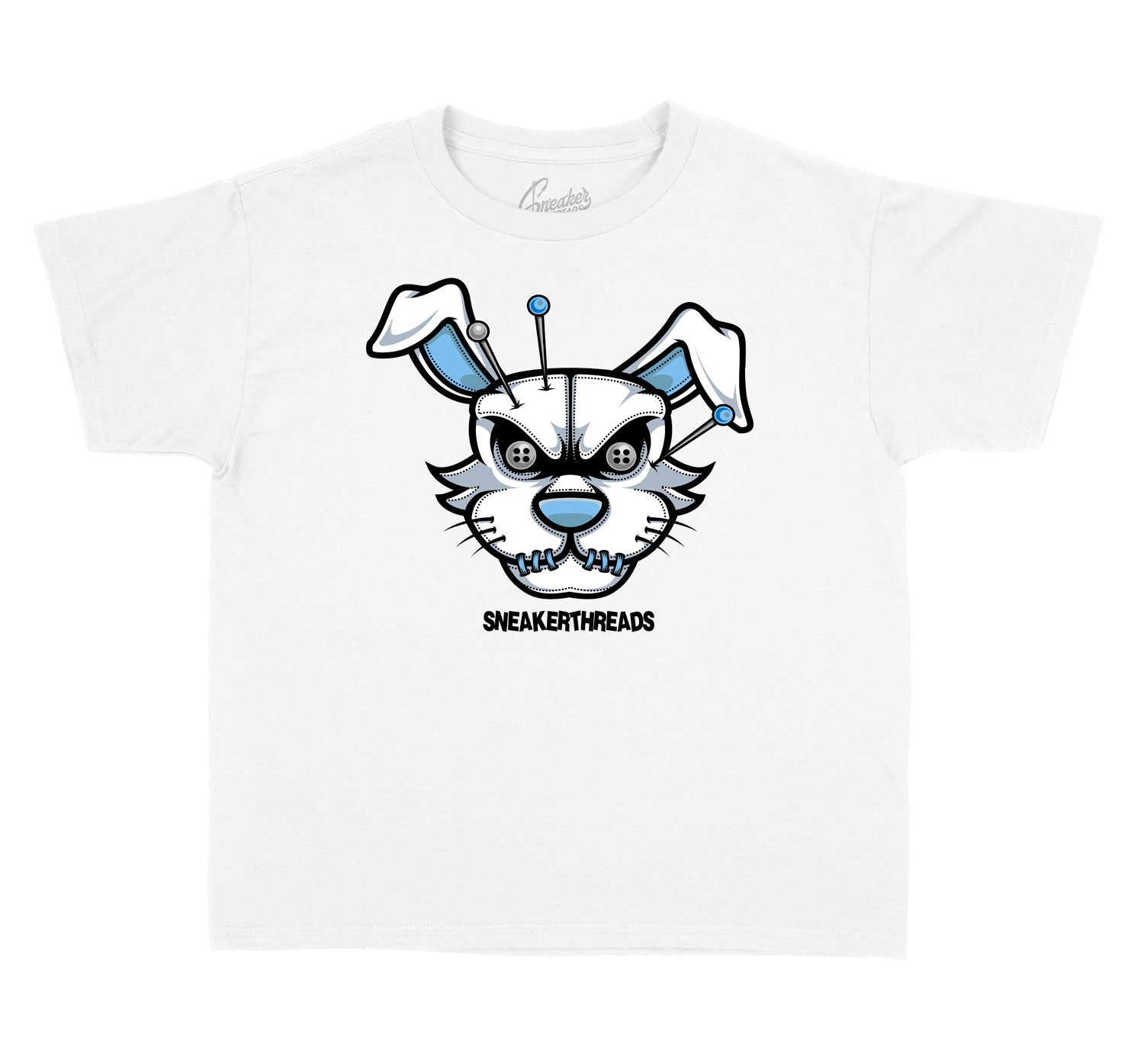 Kids University Blue 1 Shirt - ST hare - White