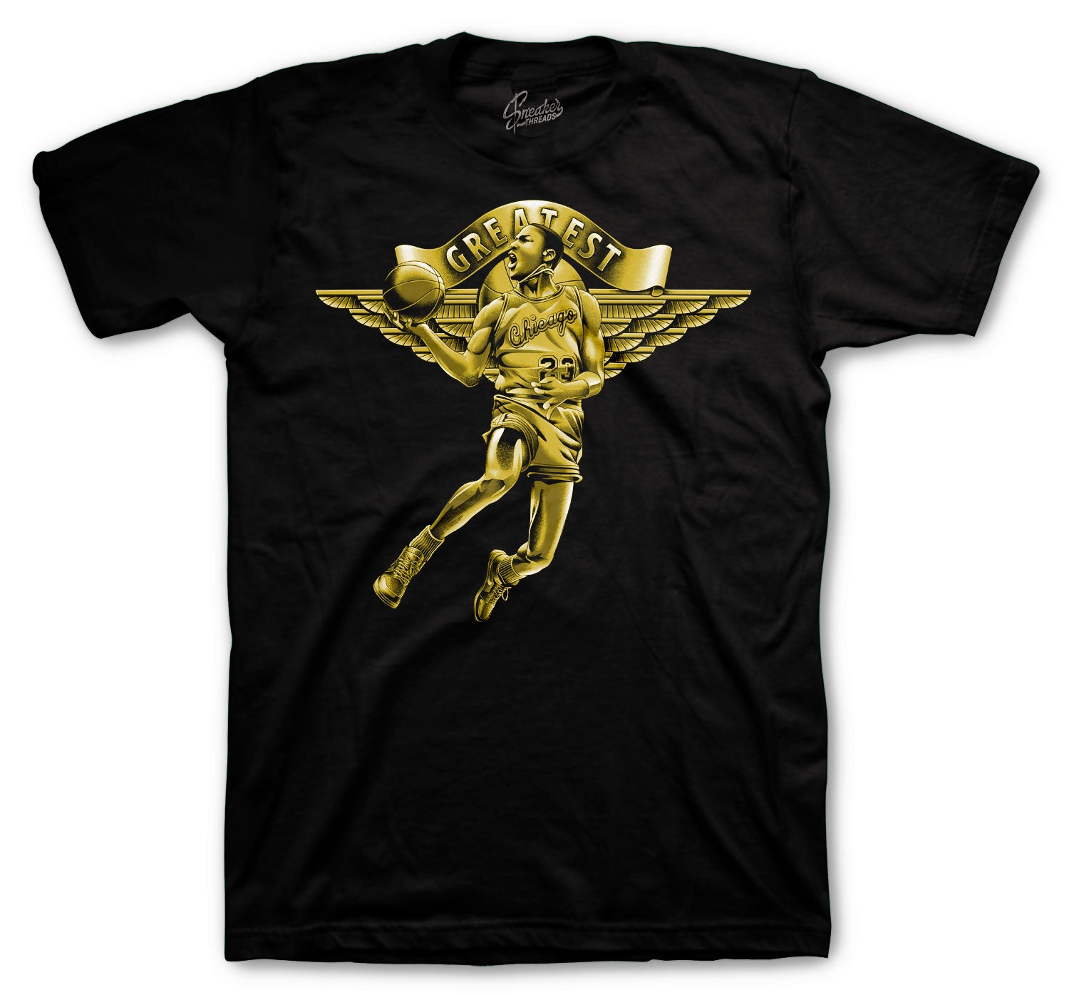 shirts matching with mens sneaker Jordan 1 black gold