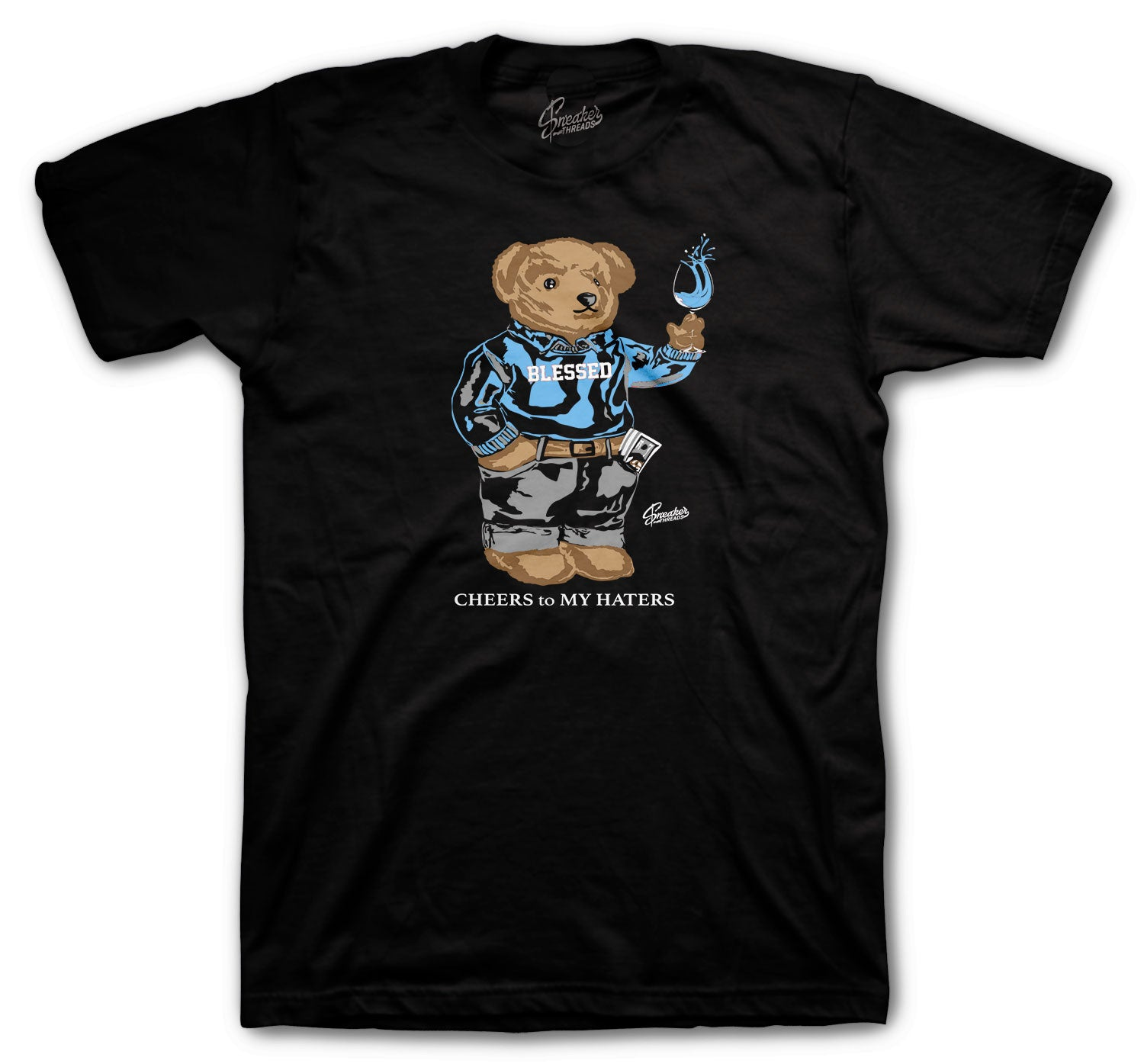 Jordan 3 UNC Shirt - Cheers Bear - Black
