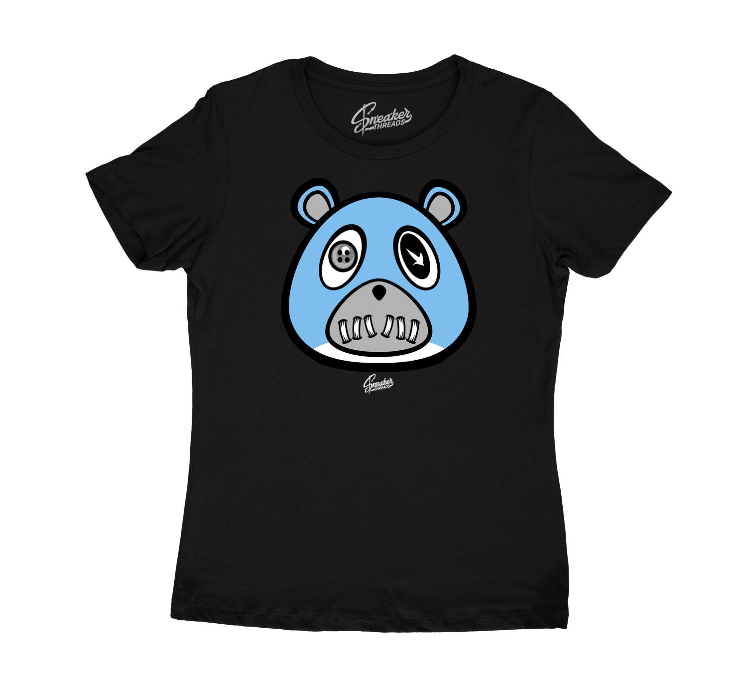 Womens University Blue 9 Shirt - ST Bear - Black