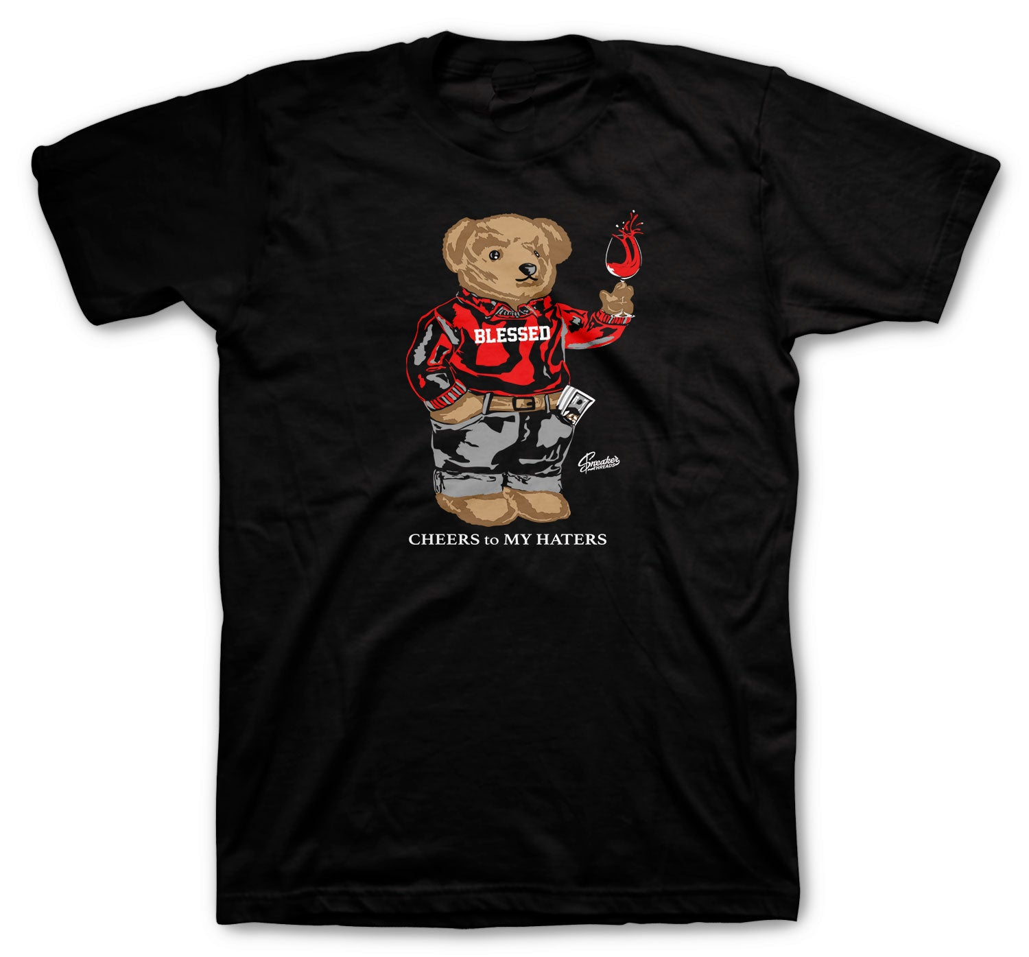 Jordan 6 Carmine Shirt - Cheers Bear - Black