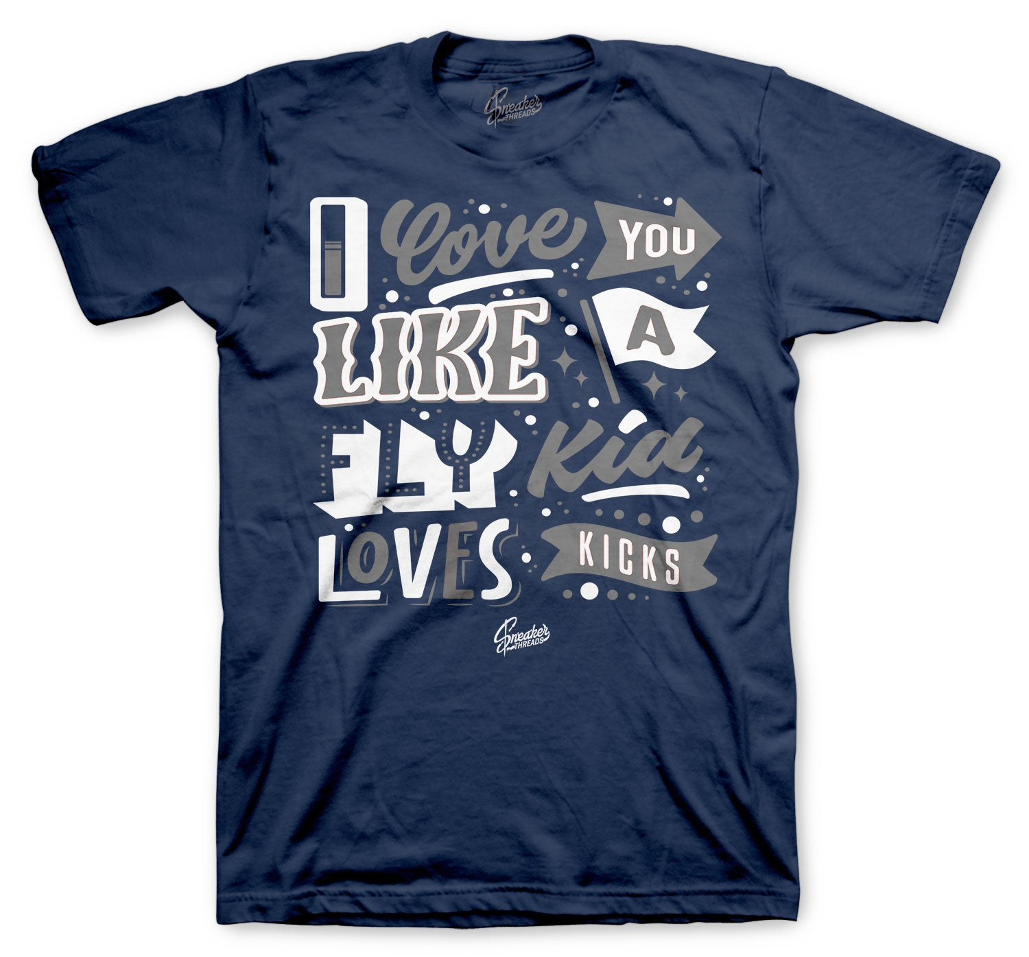 Jordan 13 Flint Shirt - Love Kicks - Navy