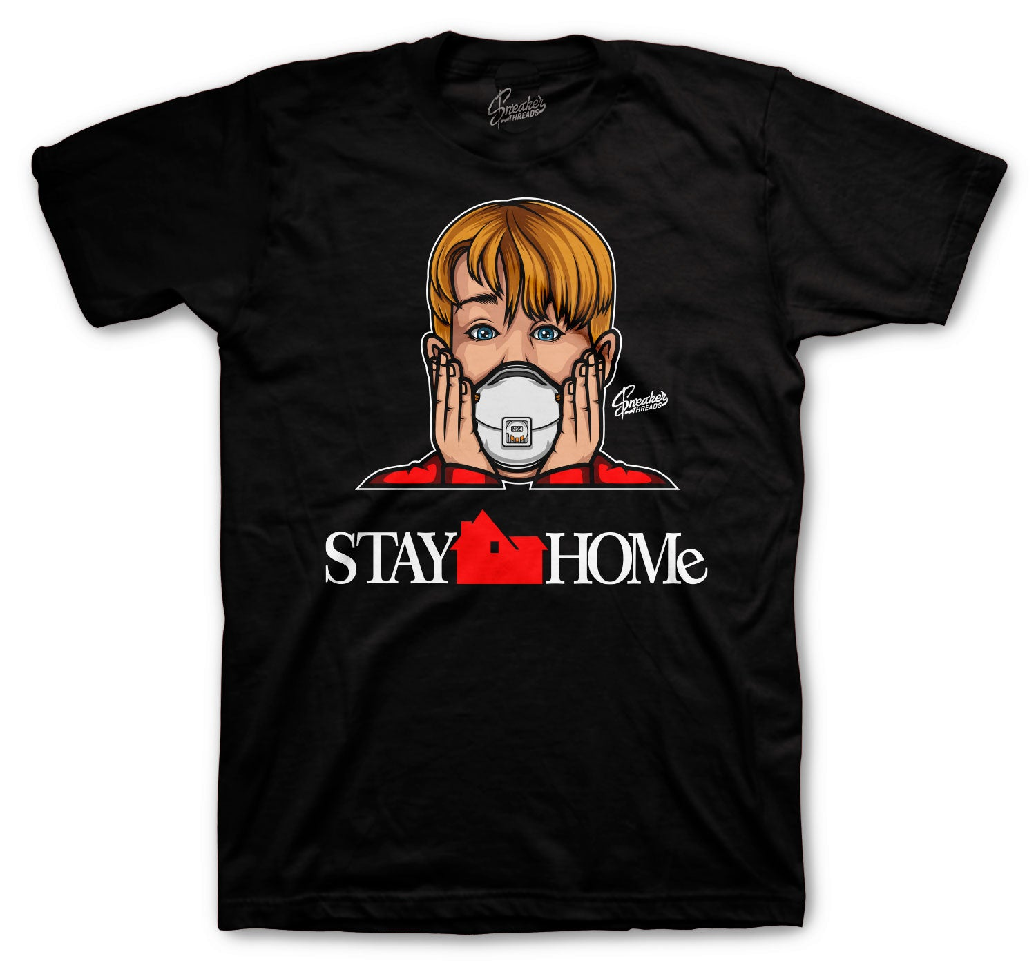 Yeezy Bred 350 Shirt - Stay Home - Black