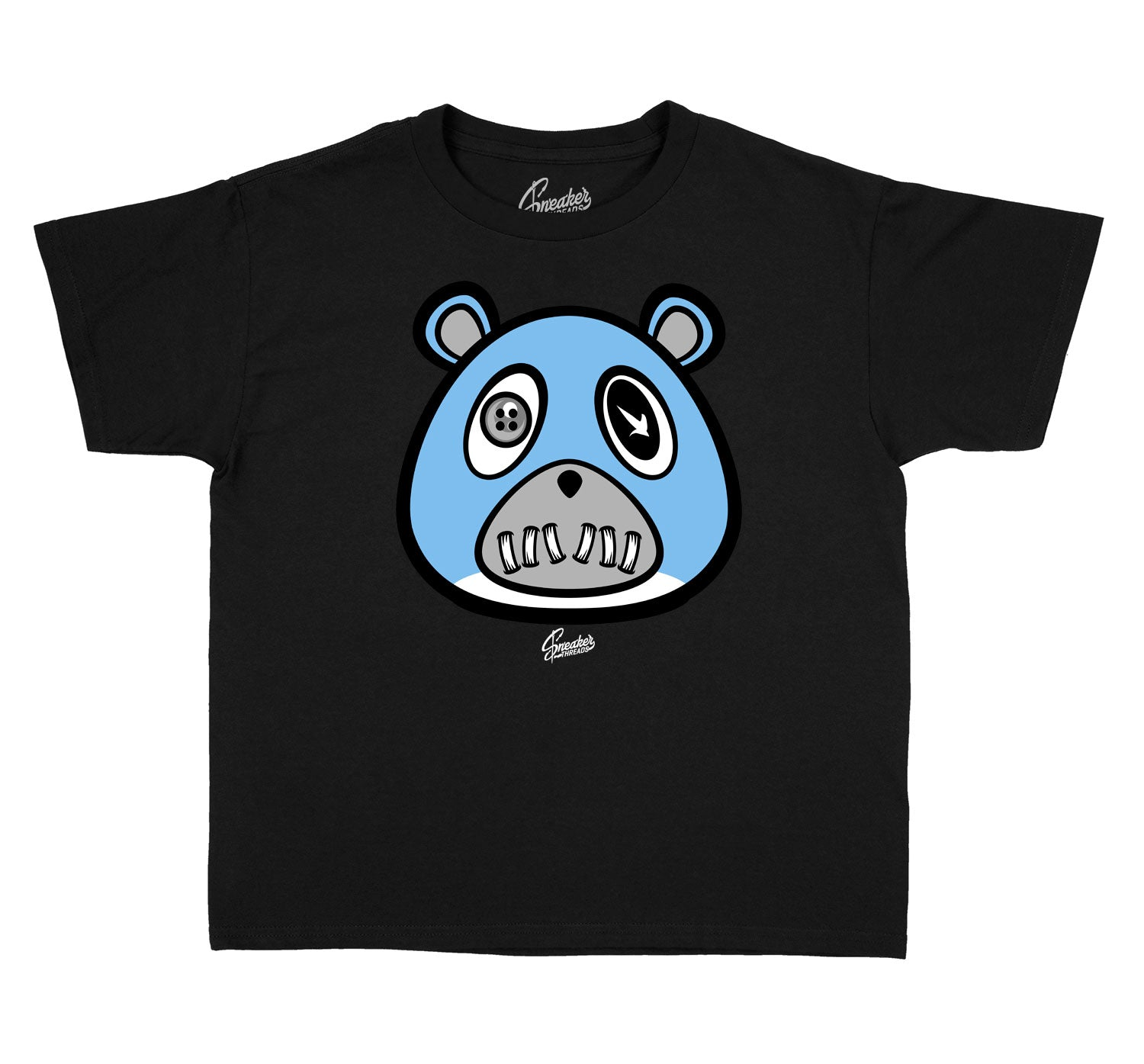Kids University Blue 9 Shirt - ST Bear - Black