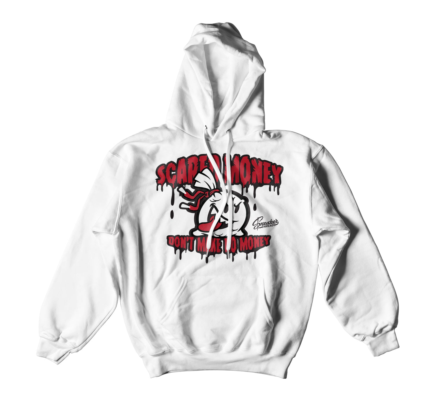 Jordan 9 Gym Red Hoody- Scared Money - White
