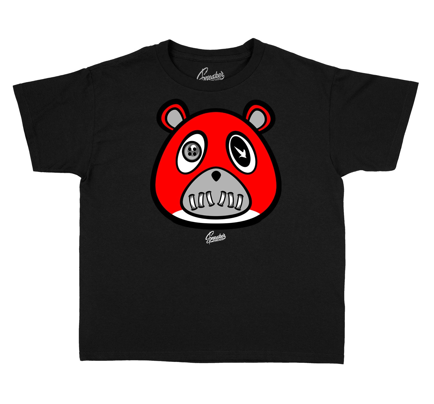 Kids Reverse Flu 12 Shirt - ST Bear - Black