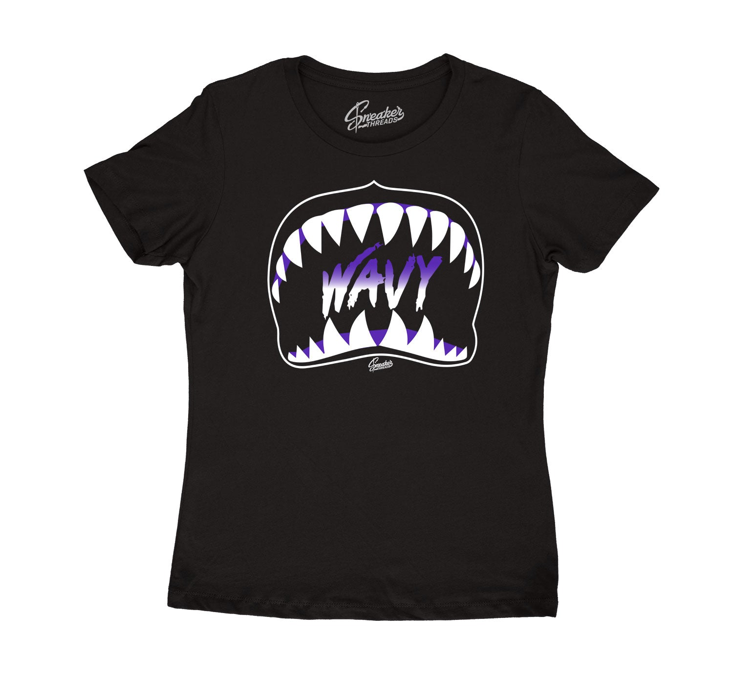 Womens Dark Concord 12 Shirt - Wavy - Black