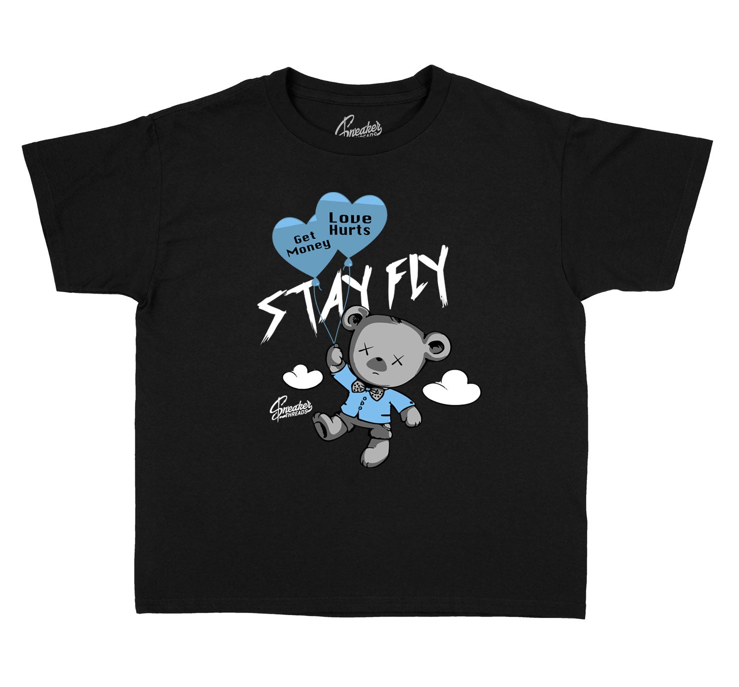Kids University Blue 1 Shirt - Money Over Love - Black