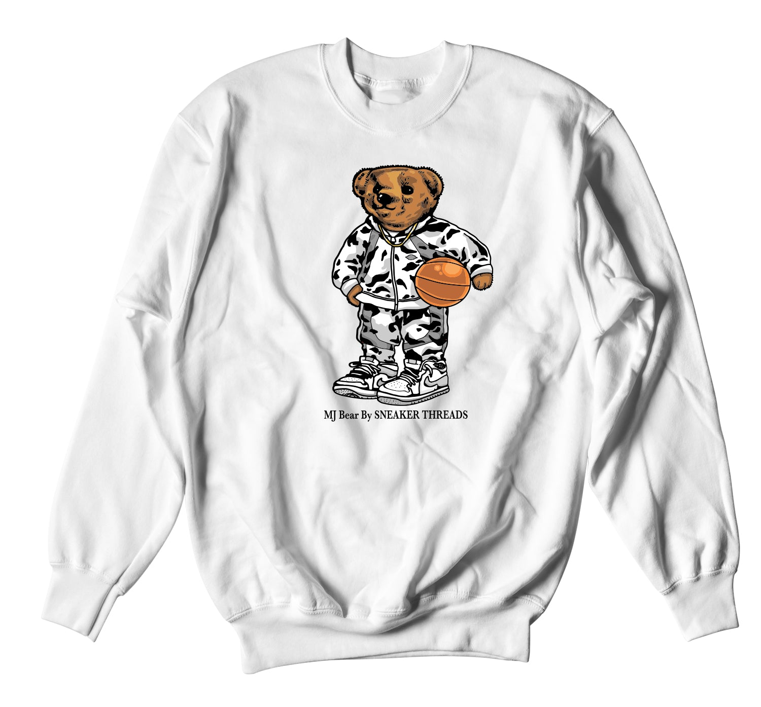 Jordan 1 Neutral Grey Sweater - MJ Bear - White
