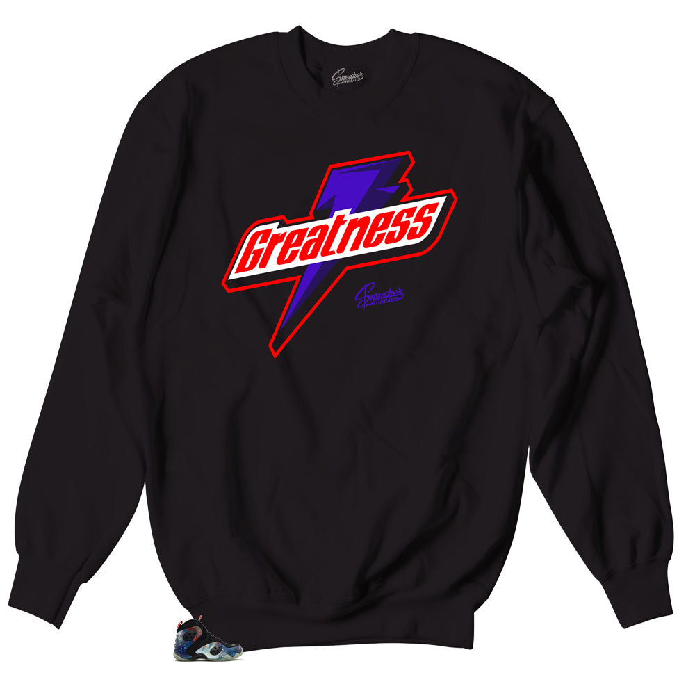 Kie Air Galaxy Rookie Zoom Sneaker has matching crewneck sweaters made to match the galaxy rookie zoom sneakers