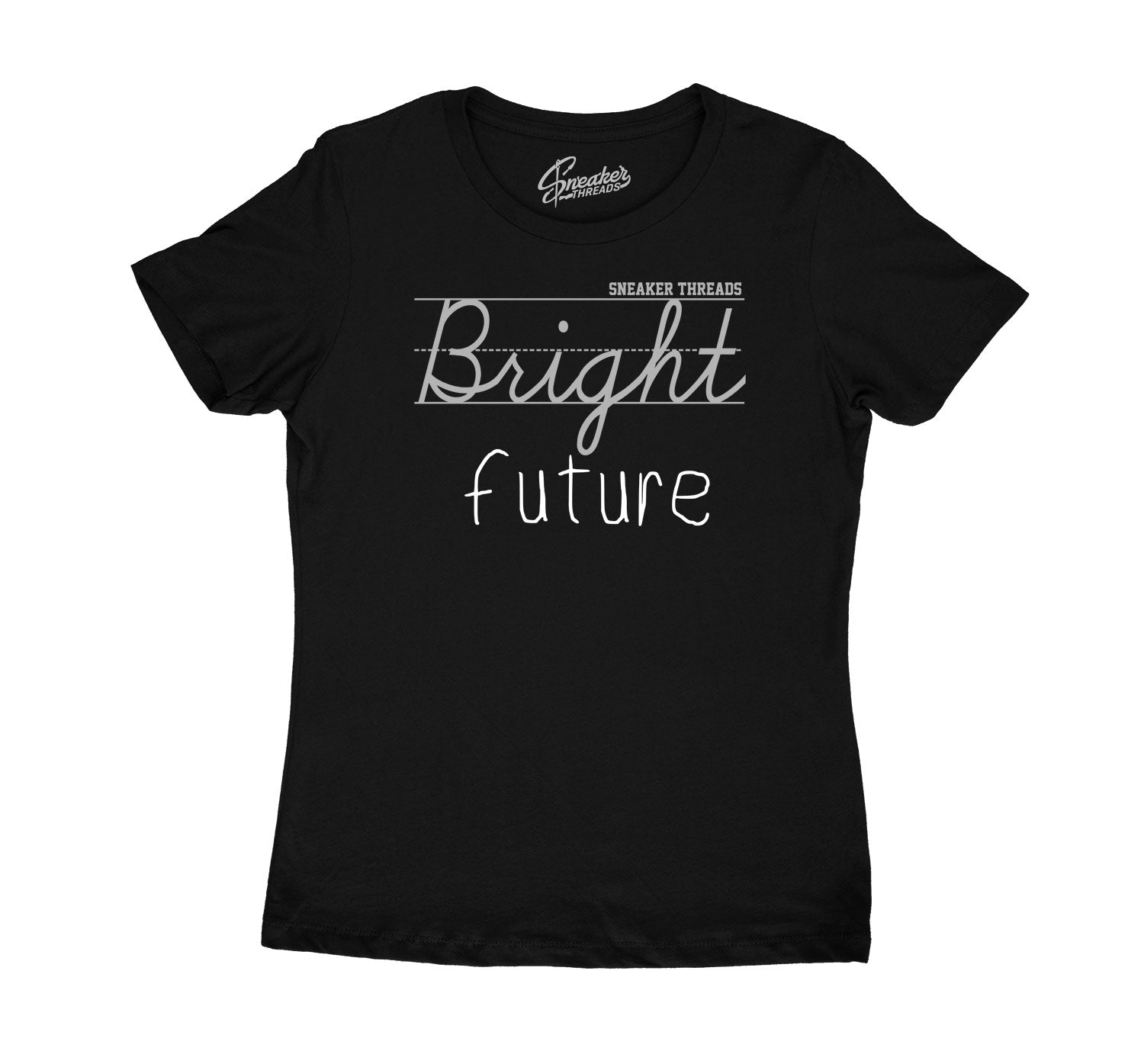 Womens Silver Toe 1 Shirt - Bright Future- Black