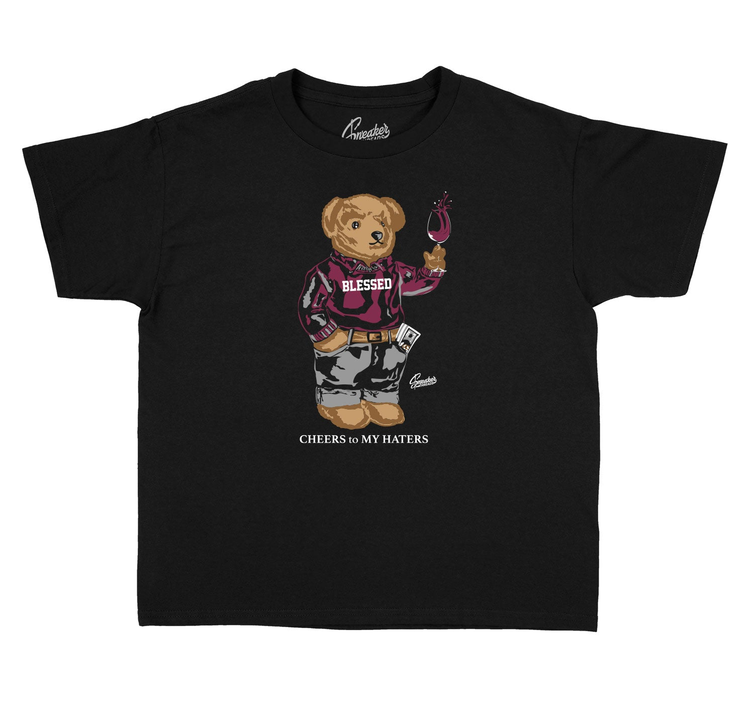 Jordan 8 Burgundy sneaker collection matches with kids shirts