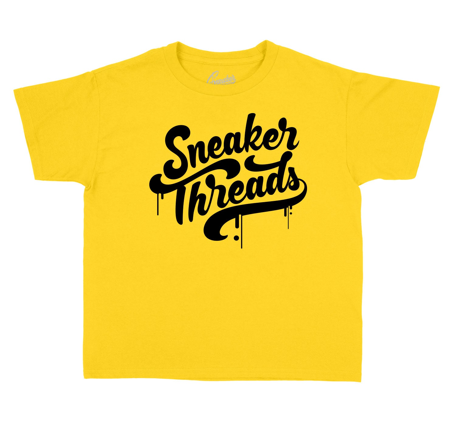 Jordan 12 University Gold sneakers have matching children tees
