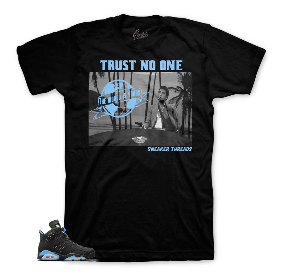 Jordan 6 UNc shirts | Tony knows sneaker tee.