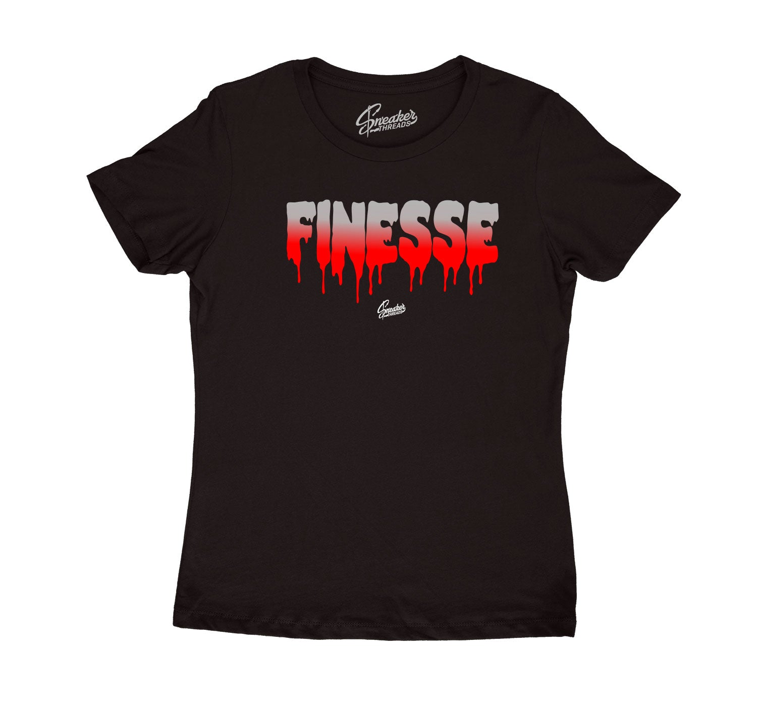 Womens Red Cement 3 Shirt - Finesse - Black