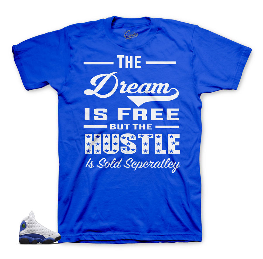 Sneaker tees match Jordan 13 hyper royal shoes | Sneaker shirts