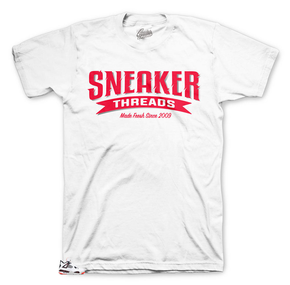 Sneaker threads online collection to match bright Crimson 4's