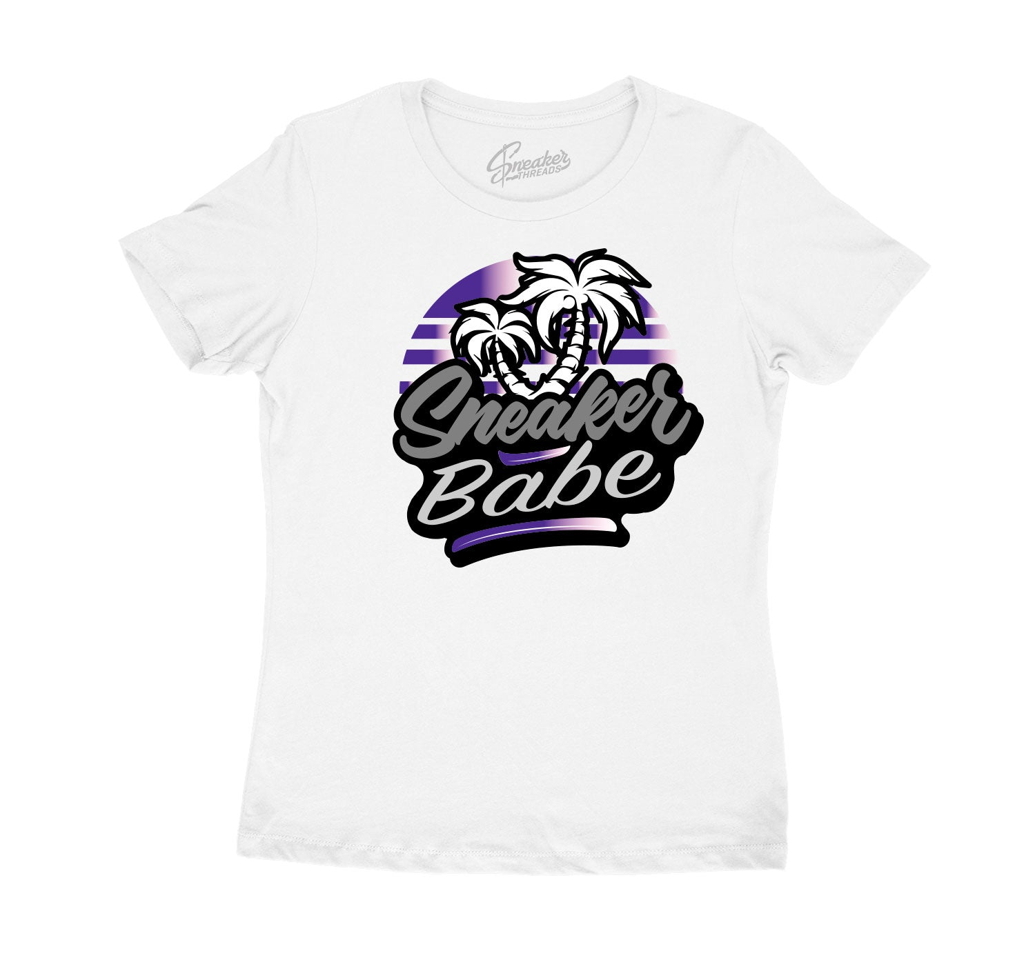 Womens Mid 1 Unite Shirt - Palms Babe - White