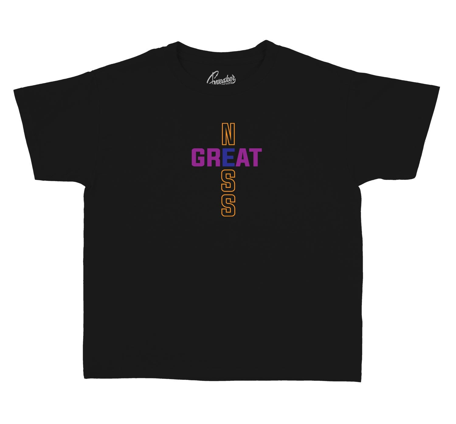 Jordan 4 Rush Violet Greatness Cross shirt for kids