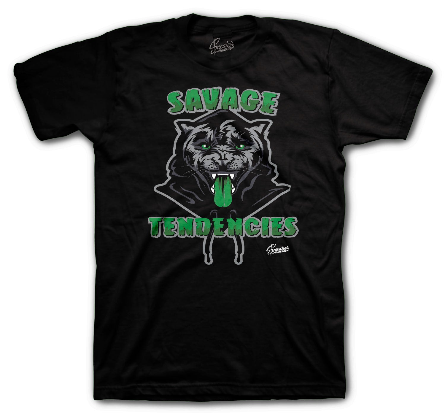 Jordan 13 Lucky Green Shirt - Savage Tendencies - Black