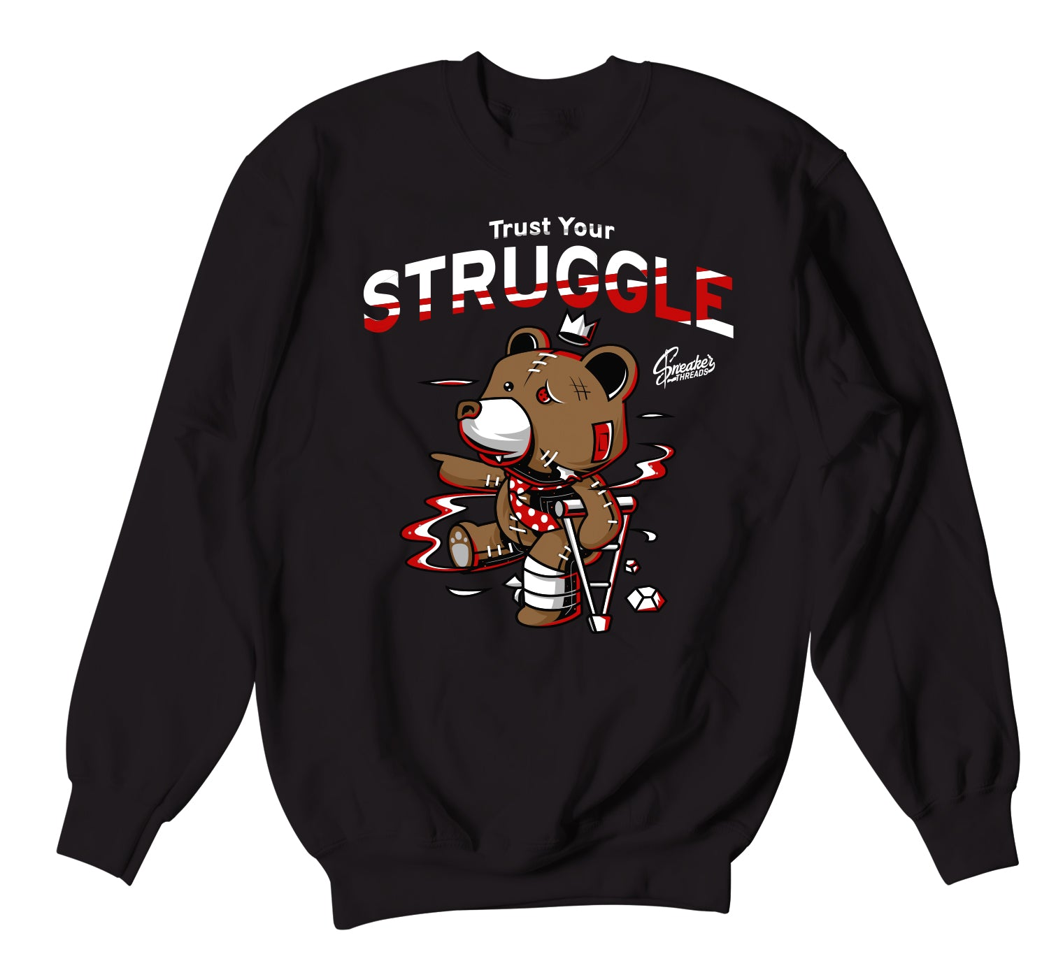Jordan 6 Carmine Sweater - Trust Your Struggle - Black