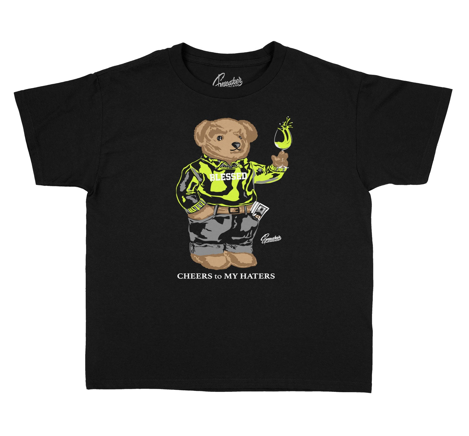 Kids Foam Volt Shirt - Cheers Bear - Black