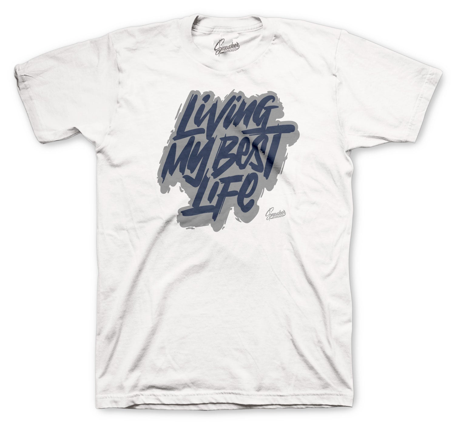 Jordan 13 Flint Shirt - Living Life - White