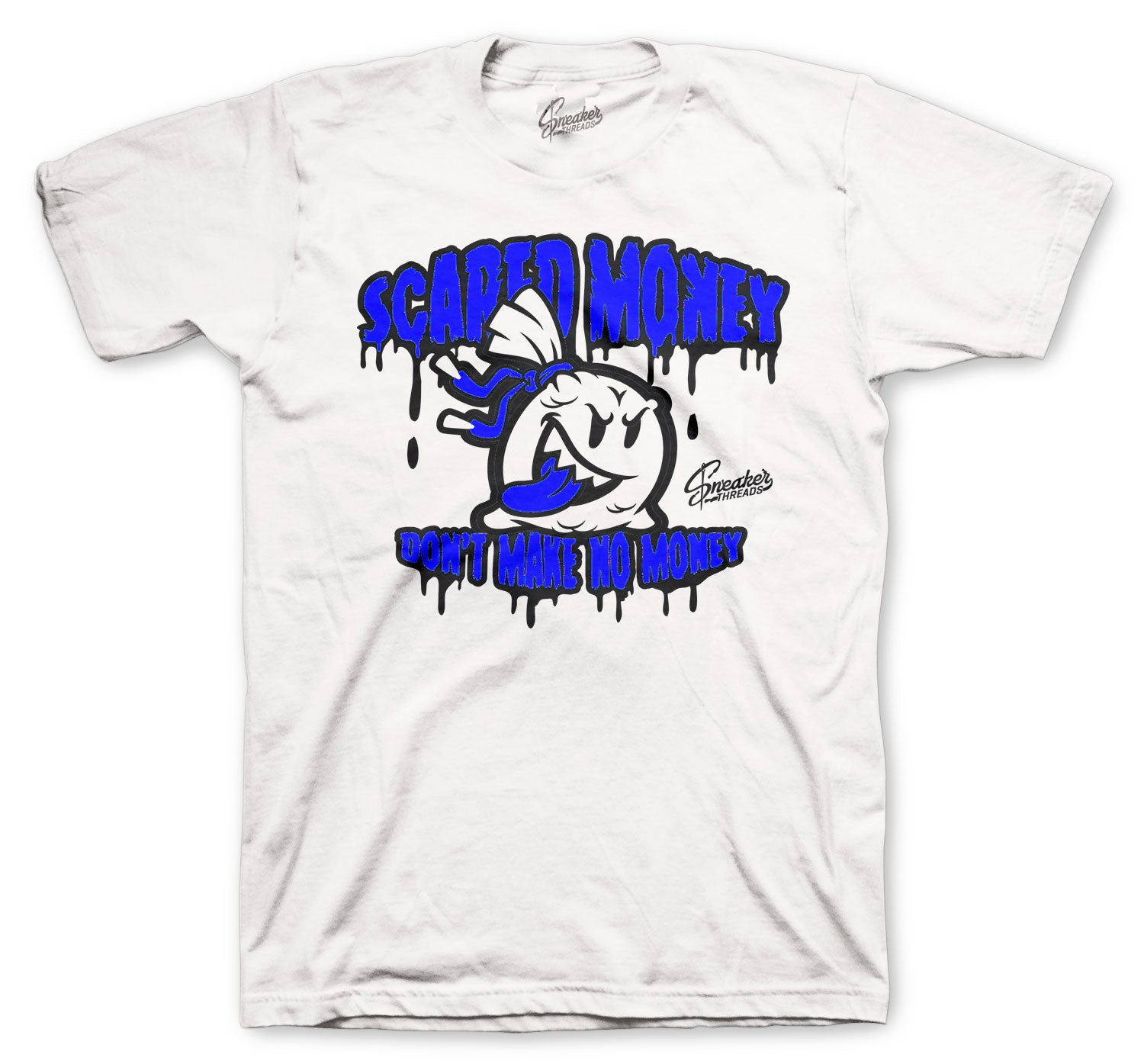 Jordan 14 Hyper Royal Shirt - Scared Money - White