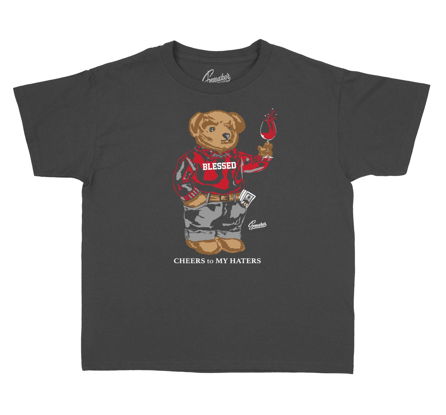 sneaker collection Jordan 13 red flint kids t shirt collection