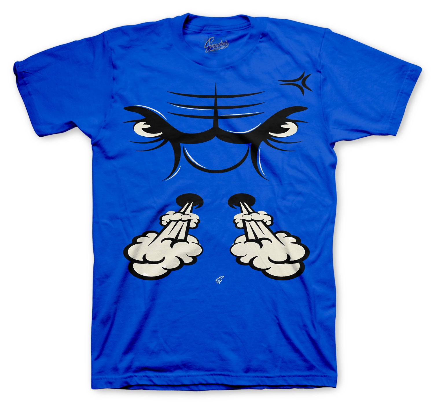 Jordan 13 Hyper Royal Shirt - Raging Face - Royal