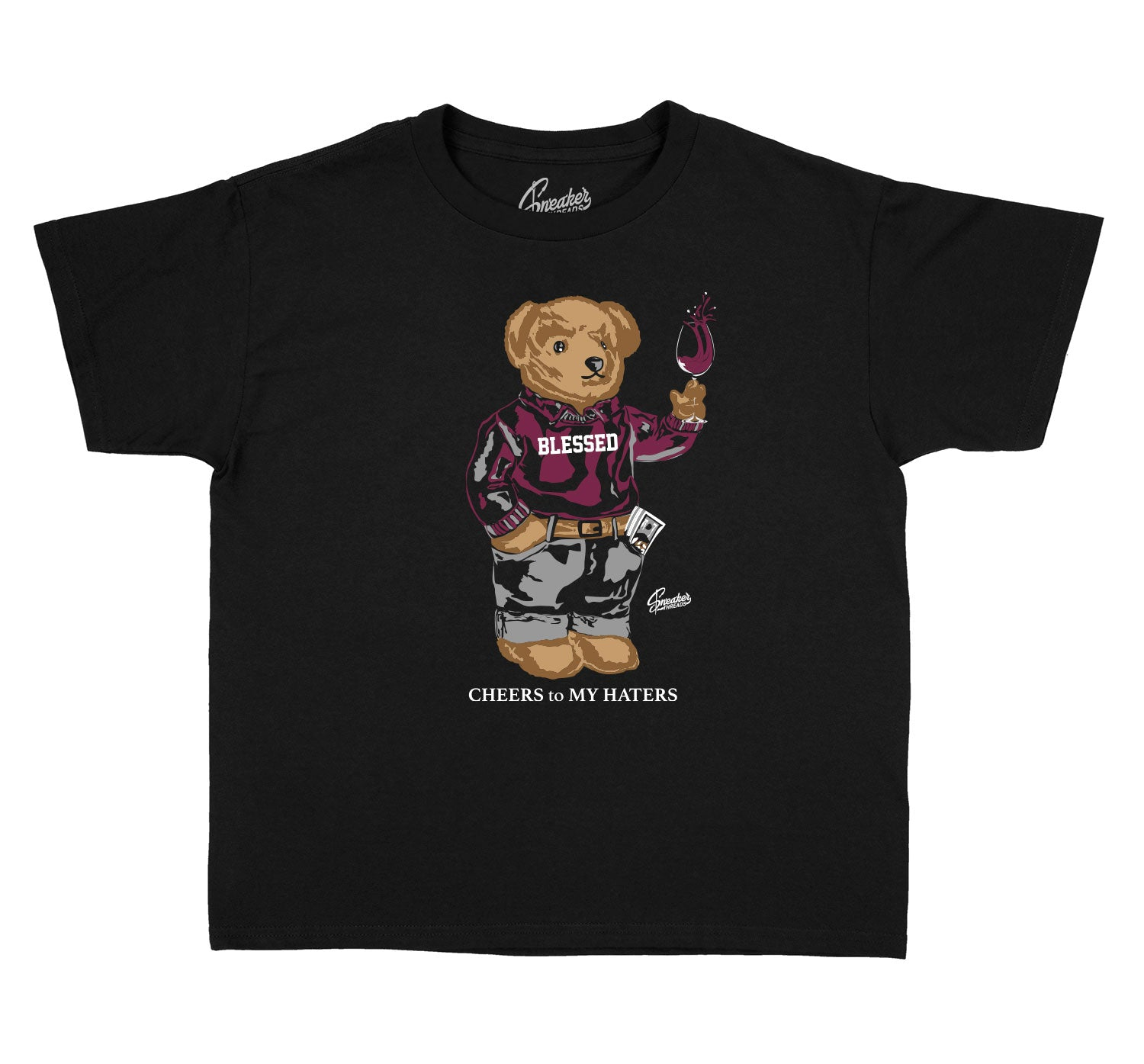 Kids Singles Day 6 Shirt - Cheers Bear - Black