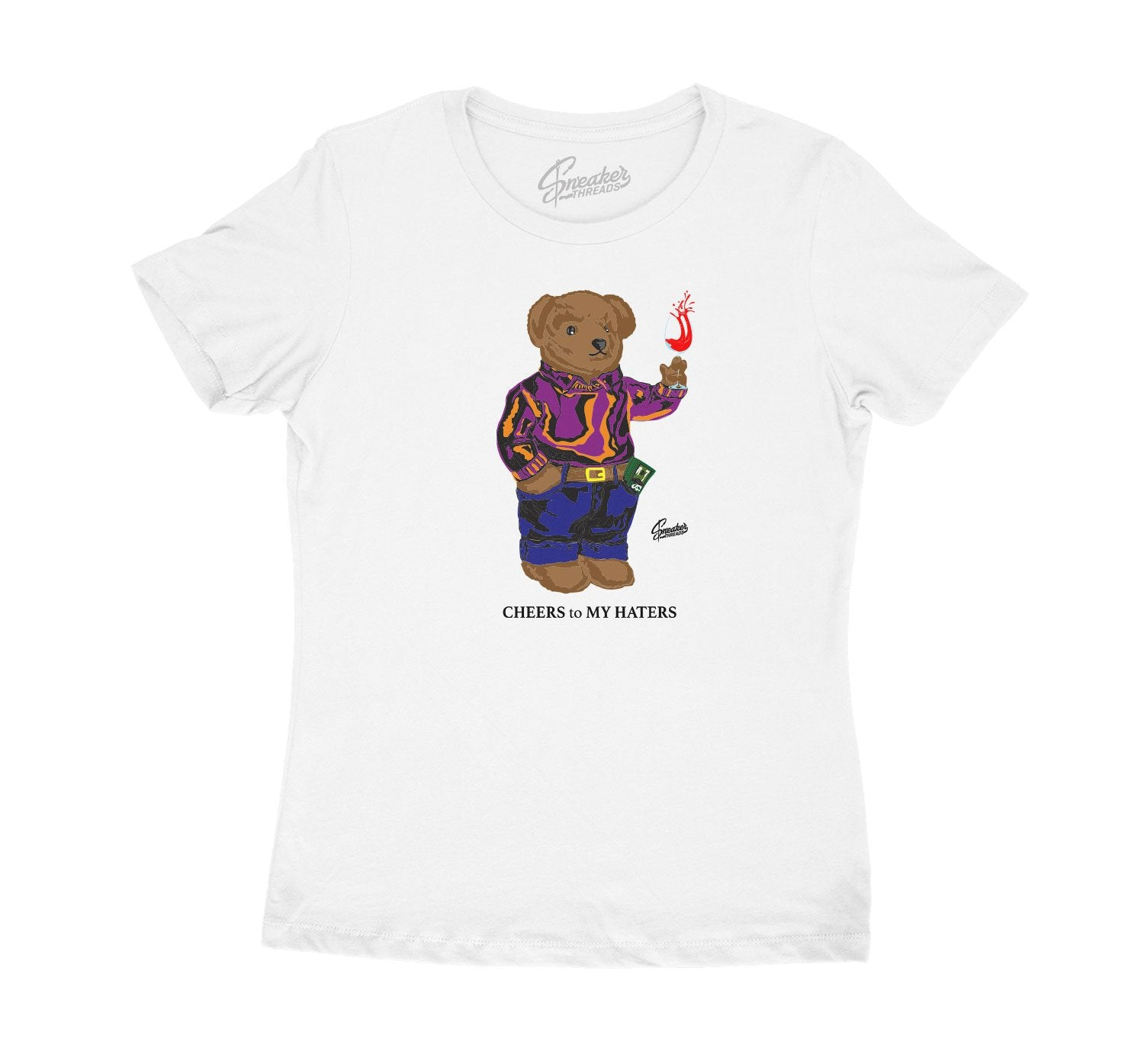 Jordan 4 Rush Violet Cheers Bear Shirt for women