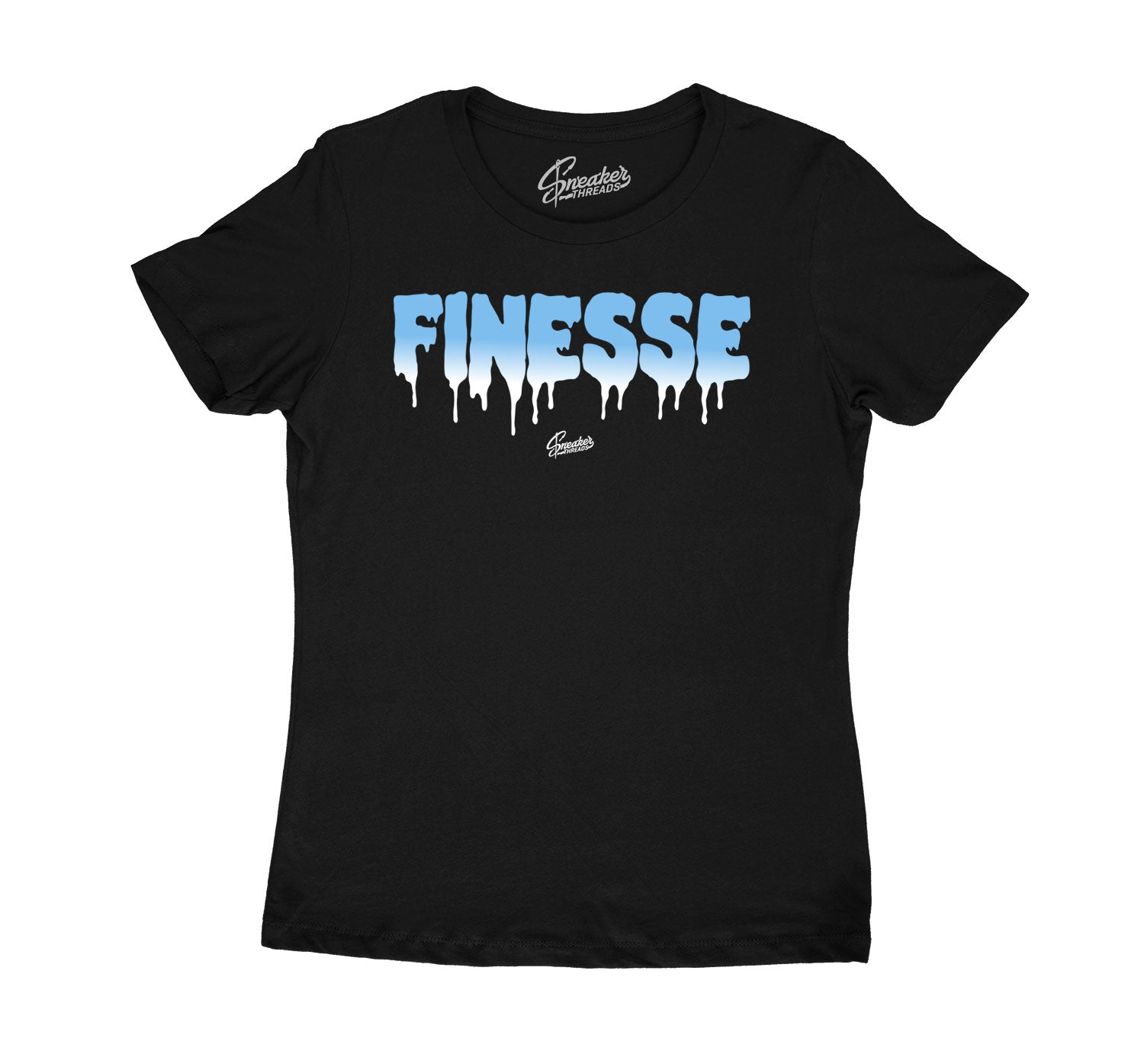 Womens University Blue 1 Shirt - Finesse - Black